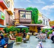 Att att äta i Tbilisi Royaltyfri Foto