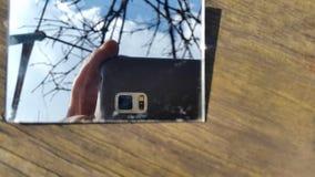 att att fotografera på smartphonen Arkivbilder