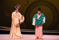 """Att att fråga munkarna - Kunqu opera""""the västra Chamber† Royaltyfria Foton"""