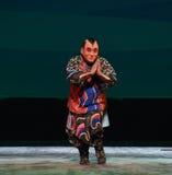 """Att att tillbe Buddha--€œLittle Worriors för Peking opera av Yeuh's family"""" Royaltyfri Fotografi"""