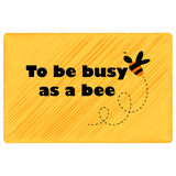 Att att vara upptaget som ett bi vektor illustrationer