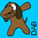 Att badda för klick poserar hundungetecknade filmen stock illustrationer