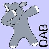 Att badda för klick poserar noshörningungetecknade filmen vektor illustrationer