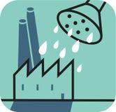 Att bevattna kan över fabrik Royaltyfri Illustrationer
