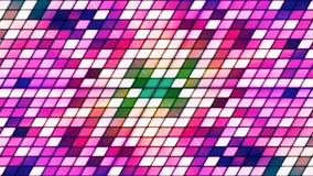 Att blinka för TV-sändning lutar högteknologiska kuber, lilor, abstrakt begrepp, Loopable, 4K stock video