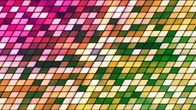 Att blinka för TV-sändning lutar högteknologiska kuber, mång- färg, abstrakt begrepp, Loopable, 4K lager videofilmer