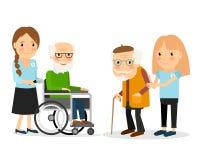 Att bry sig för pensionärer Arkivfoton