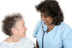 att bry sig medicinsk professionell Royaltyfri Bild