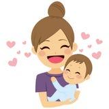 att bry sig moder vektor illustrationer