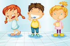 att bry sig tänder royaltyfri illustrationer