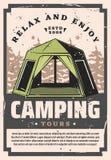 Att campa turnerar rekreationsportaffärsföretag vektor illustrationer