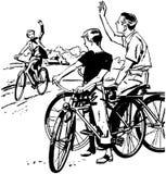 Att cykla är roligt! Arkivfoton