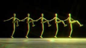 Att dansa för dvärgar kan på burk, stereoskopiskt stock illustrationer