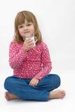 att dricka mjölkar Royaltyfri Fotografi