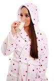 att dricka mjölkar royaltyfria bilder