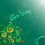 att dyka går royaltyfri illustrationer