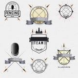 Att fäkta förser med märke logoer och etiketter för några bruk Royaltyfri Bild