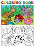 Att färga bokar buggar tema avbildar 5 Royaltyfria Bilder