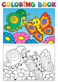Att färga bokar fjärilstema 1 Royaltyfri Bild