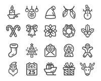 att fästa för jul ihop innehåller digitala inställda symbolsillustrationbanor stock illustrationer