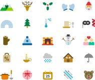 att fästa för jul ihop innehåller digitala inställda symbolsillustrationbanor Royaltyfria Foton