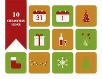att fästa för jul ihop innehåller digitala inställda symbolsillustrationbanor Royaltyfri Foto