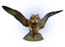att fästa ihop ner inkluderar att slå ned för owlbana Arkivfoton