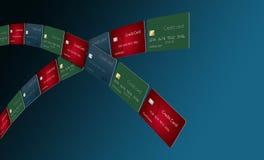 Att få kassabaksida på kreditkortköp är som att finna krukan av guld på slutet av en regnbåge stock illustrationer