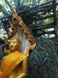 Att förbluffa fördärvar av den buddistiska templet arkivbild