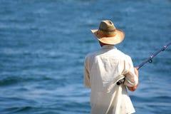 att fiska går Arkivbild