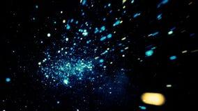 Att flytta sig tillbaka fastar till och med det stjärn- utrymmet Flyga tillbaka till och med blåtten, glänsande stjärnor i svarta royaltyfri illustrationer