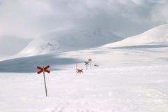 att fotvandra skidar trailen Royaltyfri Bild