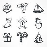 att fästa för jul ihop innehåller digitala inställda symbolsillustrationbanor Royaltyfri Fotografi