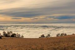 Att gå ovanför molnen är en lyx royaltyfria foton
