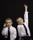 att göra en gest kopplar samman Royaltyfri Foto