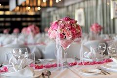 Att gifta sig bordlägger Royaltyfria Bilder