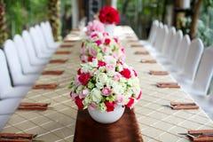 Att gifta sig bordlägger Royaltyfri Foto