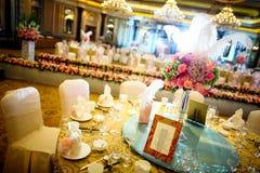 Att gifta sig bordlägger Fotografering för Bildbyråer