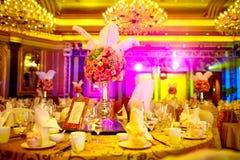 Att gifta sig bordlägger Royaltyfri Bild