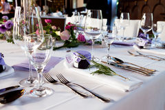 Att gifta sig bordlägger garneringen Royaltyfri Bild