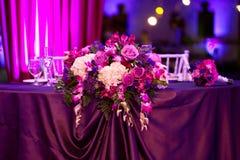 Att gifta sig bordlägger Royaltyfria Foton