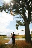 Att gifta sig kopplar ihop Arkivbilder