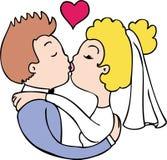 att gifta sig kyss Arkivfoto