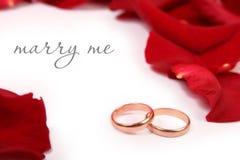 att gifta sig mig Arkivfoto
