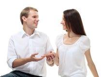 att gifta sig mig skallr dig Royaltyfri Fotografi