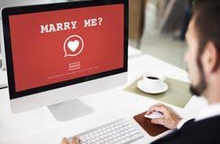 Att gifta sig mig? Valentine Romance Heart Love Passion begrepp Fotografering för Bildbyråer