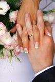 att gifta sig par royaltyfria foton