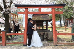 att gifta sig par Royaltyfri Bild