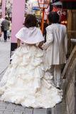 att gifta sig par Arkivbild