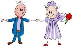 att gifta sig par Fotografering för Bildbyråer
